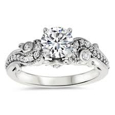 rings setting images Unique diamond engagement ring setting moissanite center stone jpg