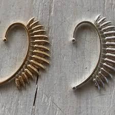 how to make feather ear cuffs boho earrings ear cuffs jewels by grace bijoux