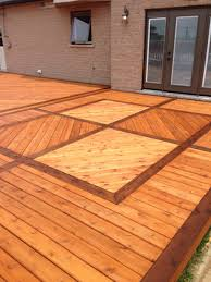 Two Tone Wood Floor Decks U0026 Fences Dave Vanam Inc Southern Ontario U0026 Gta