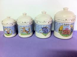 purple kitchen canister sets free winnie the pooh and friends 4 kitchen canister set by