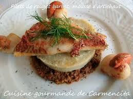 cuisiner des rougets recette de filet de rouget barbet mousse d artichaut
