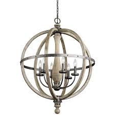 Wooden Chandelier Lighting Enchanting Wood Chandelier Lighting In Home Decor Ideas With Wood