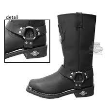 mens black riding boots 91229 harley davidson mens delinquent black high cut riding