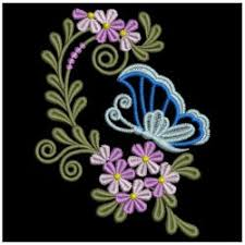 embroidery designs butterfly flower decorations 02 sm