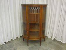 Corner Curio Cabinet Kit Curved Glass China Cabinet Ebay
