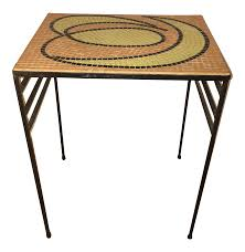 Mid Century Modern Sofa Table by Mid Century Modern Metal U0026 Mosaic Table Chairish