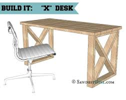 x leg desk plans looks like a basic diy project that you could