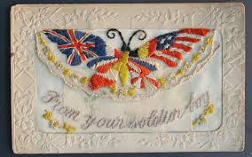 British Flag Ww1 From Your Soldier Boy First World War Postcards From The