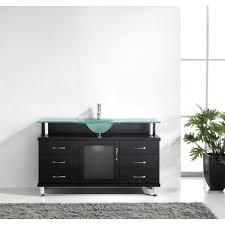 virtu usa ms 55 fg es vincente 55 inch bathroom vanity with single