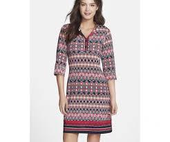 laundry by shelli segal laundry by shelli segal black multi jersey shirtdress