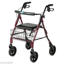 senior walkers with seat walker ebay