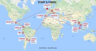 London On World Map by Couple Embark On Round The World Trip As Digital Nomads The