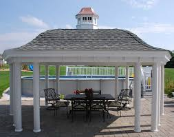 Gazebo Designs With Kitchen by Vinyl Belle Roof Elongated Hexagon Gazebos Gazebos By Style
