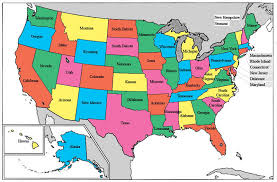 map usa states 50 states with cities map of the united states with color delineation of the states map