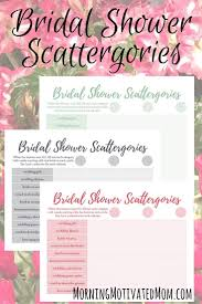 honeymoon bridal shower bridal shower and free scattergories printable morning