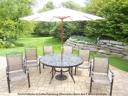 Patio Dining Set With Umbrella Patio Table Chairs Umbrella Set