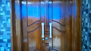 kerala modern front door designs with safety lock system youtube