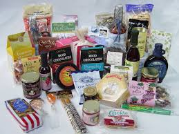 foods and gifts on your gift basket shopping list gift basket