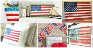 Wooden American Flag Wall Hanging American Flag Decor Ideas The Weathered Fox