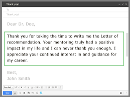 Format Of Sending Resume Through Email How To Ask Your Professor For A Letter Of Recommendation Via Email