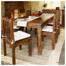 Large Wooden Dining Table by Induscraft 7 Pc Modern Sheesham Wood Dining Table Set Dining