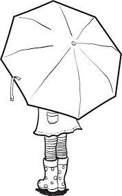 free printable coloring holding umbrella