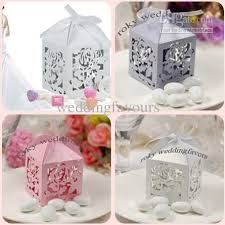 where to buy party favors light purple laser cut lantern style boxes wedding favors