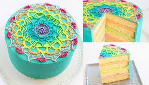 the cake ideas rainbow mandala buttercream cake decorating tutorial cake style