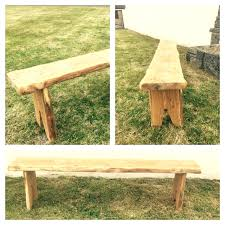 Rustic Oak Bench Handmade Wooden Work Benches Handmade Wooden Garden Furniture