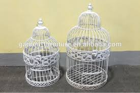handicraft shabby chic hanging painted white bird cage wedding