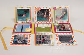small scrapbook album playful petals flip mini scrapbook album by andrea walford