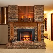 fireplace decoration brown brick fireplace streamrr com