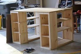 Craft Desk With Storage Craft Table Plans With Storage Free Desk Scrapbook Room Diy Photos