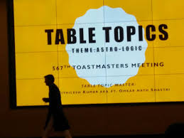 Table Topics Toastmasters My Toastmasters Role Script Table Topics Master Thelivedreams