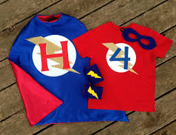personalized superhero cape t shirt mask and power cuffs