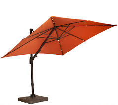 Rectangular Patio Umbrella With Solar Lights by Atleisure Multi Tilt 8 5 U0027 Solar Offset Patio Umbrella Page 1