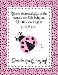 thank you favor sign for baby shower ladybug baby shower theme