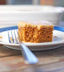 pumpkin bars with old fashioned caramel frosting recipe pinch of yum