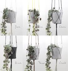 Modern Hanging Planter by Gold Brown Modern Macrame Hanging Flower Pot Hanging