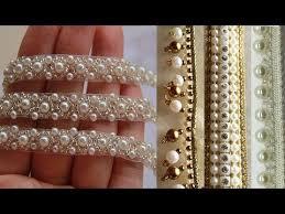 pearl lace pearl work lace border trim decorative ribbon lace saree border