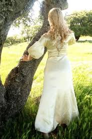 hand made vintage 1920s wedding dress in silk satin lace and