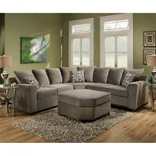 Upholstery Sectional Sofa Grey Sectional Sofa Roxanne Sectional By Simmons Upholstery 100pct