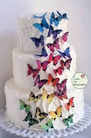 edible photo 28 rainbow edible wafer butterflies cupcake toppers a cake to