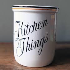 28 vintage kitchen canister 60s vintage striped metal