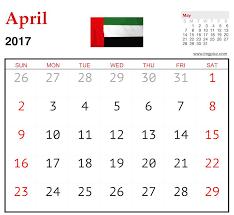 event calendar template april 2017 uae with holidays imgpicz com