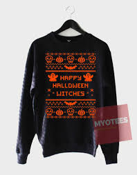 cheap sweatshirt happy halloween witches unisex on sale myotees