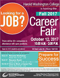 How To Prepare Resume For Job Fair by City Colleges Of Chicago Harold Washington Fall 2017 Career Fair