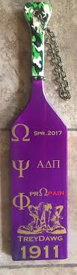 omega psi phi paddle purple wood que paddle paddles by me