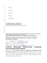 artikel format paper ilmiah contoh makalah images card design and card template