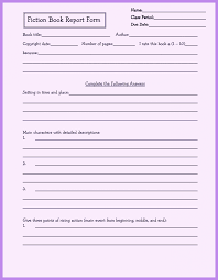 story report template sle book reports for 5th graders operations technician cover letter